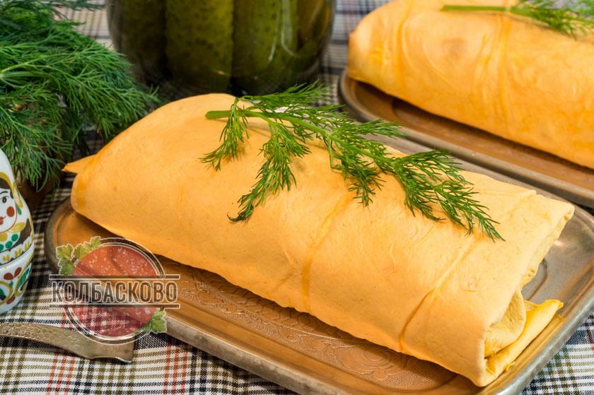 шаверма с колбасой и сыром