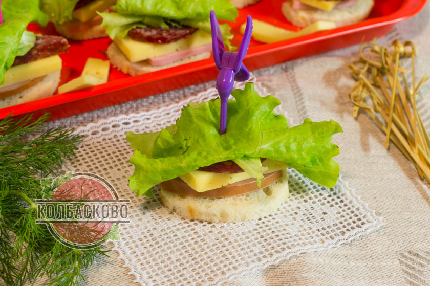 бутерброды со шпажками