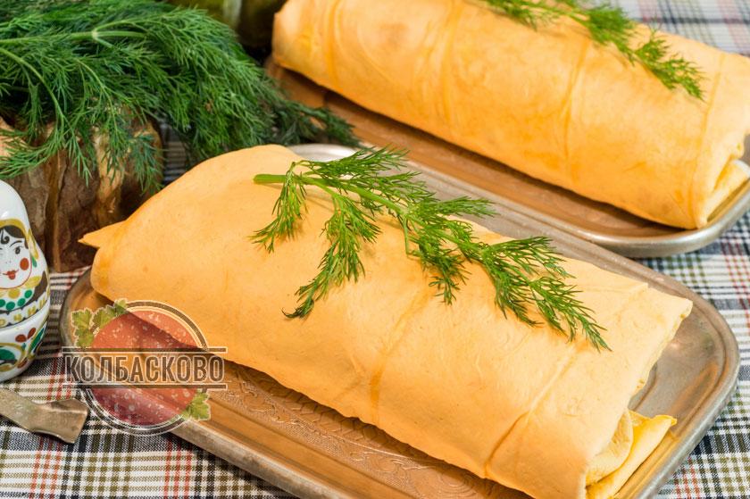 Домашняя шаурма в лаваше с колбасой