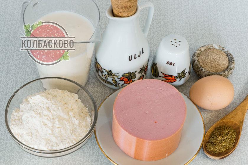 ингредиенты для колбасы в тесте