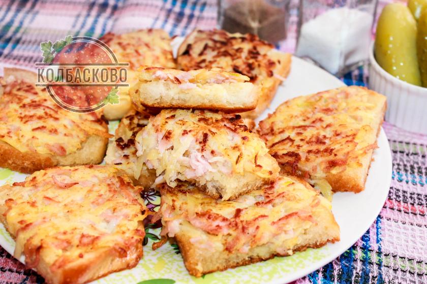 горячие бутерброды на сковороде с картошкой и яйцом